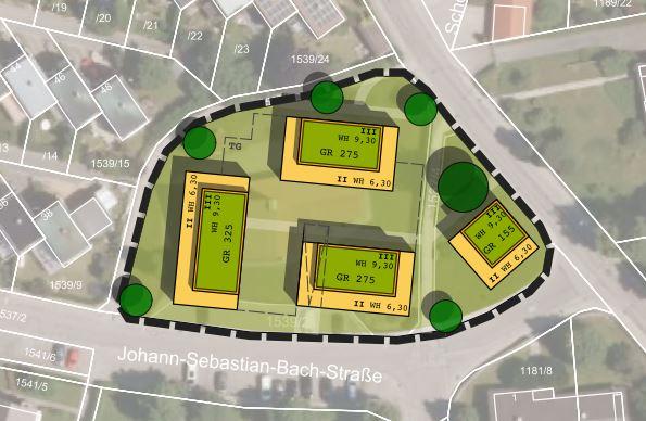 Schongau_Wohnanlage_B-Plan_Entwurf